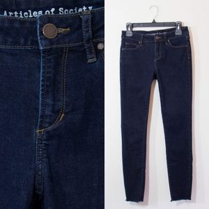 Articles of Society Dark Blue Denim Skinny Jeans